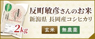 反町敏彦さんのお米 玄米 無農薬 2kg