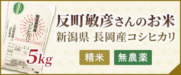 反町敏彦さんのお米 精米 無農薬 5kg